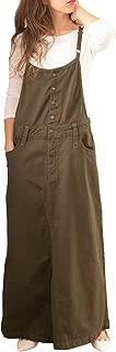 [サコイユ] サロペット オールインワン M~4L ロング スカート マキシ丈 デニム ツイル オーバーオール 綿 レディース