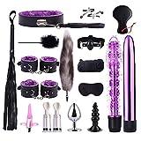JUNGE Cosplay Novelty Sweet Toys  & MadülltGame Six Parejas Juguetes para Mujer  LA  -  Set de Juego T-Ö-YSBëD 17pcs / Set (Color : Purple)