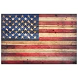 Empire Art Direct ADL-EA2000-4530 American Flag Digital Print on Solid Wood Wall Art, 30' x 45' x 1.5', Ready to Hang