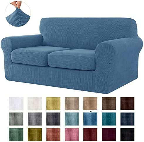 Best CHUN YI Stretch Sofa Slipcover Separate Cushion Couch Cover, Armchair Loveseat Replacement Coat for