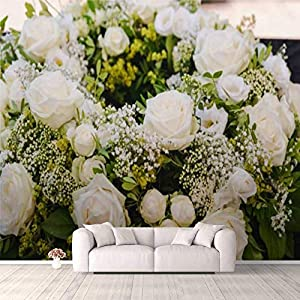 3D Wallpaper Wreath and Grave Decorations in a Gardener Shop Self Adhesive Bedroom Living Room Dormitory Decor Wall Mural Stick and Peel Background Wall Ceiling Wardrobe Sticker