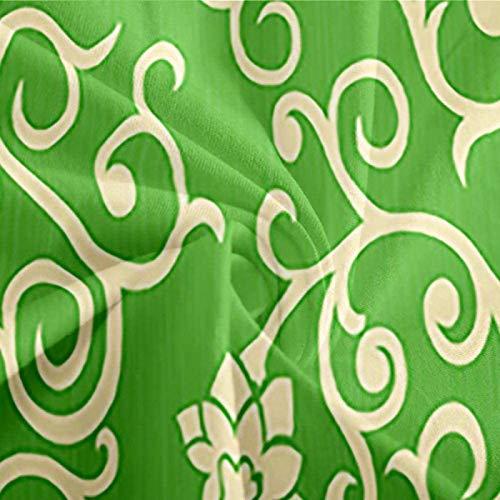 HKDGHTHJ Edredón Infantil Imagen Creativa 3D Patrón Floral Verde 220 x 230 CM Funda nórdica Impresa Funda de edredón con Cremallera Ropa de Cama Suave y cómoda Ropa de Cama para niños Adultos