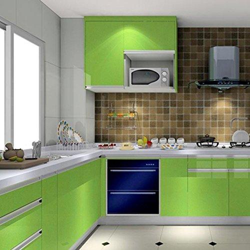 Pegatina de vinilo perlada, de 60 x 200 cm, para renovación de muebles, de EMVANV, Verde, Tamaño libre