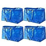 IKEA FRAKTA キャリアバッグ ブルー Lサイズ ショッピングバッグ (4個セット)