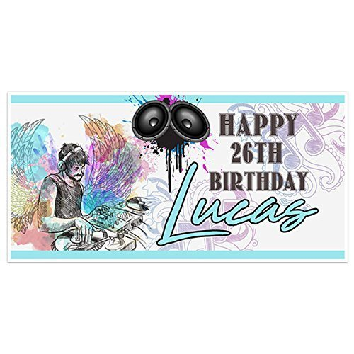 Birthday Music Personalized Banner