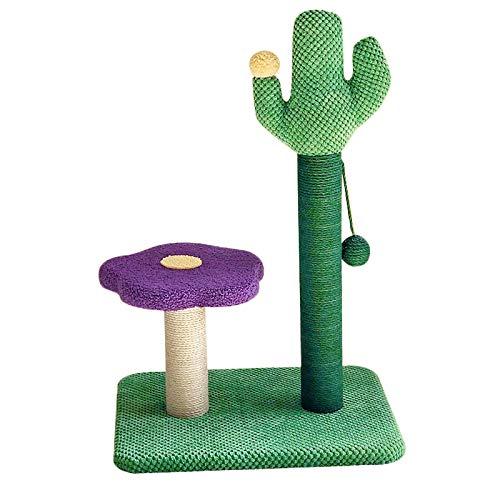 TXOZ-Q Multi-Level Cat Tree Ständer Hausmöbel Kätzchen Aktivitätsturm mit Kratzer Pfosten Kitty Pet Play House (Color : Purple)
