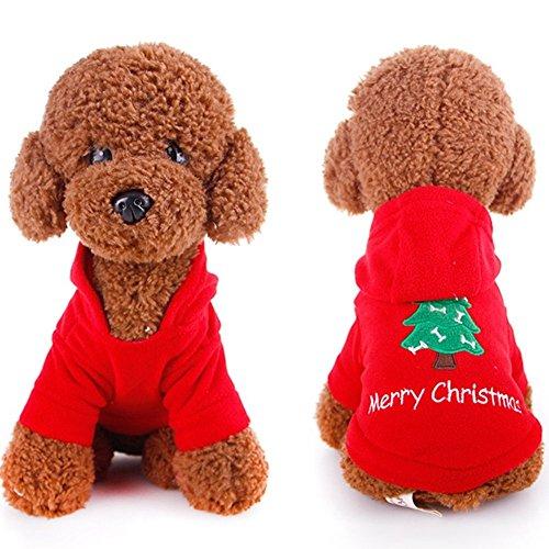 SSITG huisdier hond Kerstmis kleding Kerstman kostuum chique hoodie outfit XL