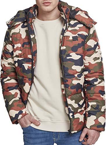 Urban Classics Herren Hooded Camo Puffer Jacket Jacke, Mehrfarbig (Rustica 01456), L