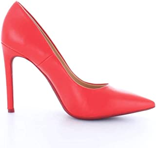 FRANCESCO MILANO Women's S091DRED Red Leather Pumps