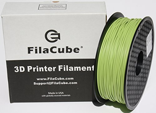 PLA+ Greenery (Color of Year 2017,Yellowish-Green) 1.75mm 3D Printer Filament - 1kg FilaCube HT-PLA+ High Temperature PLA Plus - Tough,Strong,Tolerate high Temp After Heat-Treat,3D Printing PLA Pro