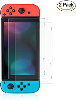 Screen Protector for Nintendo Switch , AMMY 0.3mm Ultra Thin 2.5D Curved Edge Tempered Glass Film, 9H Hardness HD Clear An...