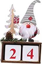 oshhni Calendário do Advento de Natal bonito Navidad Gnome Boneco de neve Decoração de Natal escandinava contagem regressi...