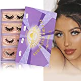 SWINGINGHAIR 3D Mink Lashes, Fake Eyelashes Natural Look, Natural Lashes Pack, 17mm Natural False Lashes Mink Full Stripe Lashes Mink Natural, 4 Pairs|Dance