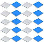 20pcs Aluminum Heatsink 25x25x2.4mm / 0.98x0.98x0.09 inches with Thermal Conductive Adhesive Tape for Electronic Chip MOS IC Diode Triode Cooling Heat Dissipation
