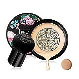 Mushroom Head Air Cushion CC Cream Foundation Cover Corrector Maquillaje Hidratante Brillo Pigmento Base líquida, Uniforme Base de maquillaje de tono de piel BB #Light White