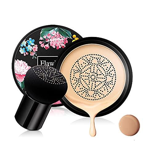 Pilzkopf Luftkissen CC Creme Foundation Cover Concealer Make-up Feuchtigkeitsspendende aufhellende Pigment Liquid Foundation, sogar Hautton Make-up Basis BB (Natürlich)
