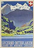Vintage Travel Schweiz für Luzern Kunstdruck 250gsm,