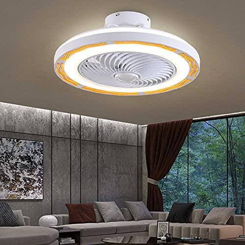 CYFCXK Ventilador de Techo con iluminación Luz, Lampara LED Techo Ajustable Velocidad del Viento Regulable con Control Remoto 36W Luz de Techo LED Moderna para Dormitorio Sala de Estar Comedor (50cm)