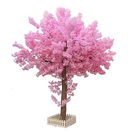 Cerezo artificial, decoración de interiores, árbol de deseos en la sala de estar de la boda del gran centro comercial, planta artificial, árbol artificial forma redonda 1 metro de alto 60 cm de ancho