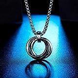 NC110 Collar para Collar Hombres Hombres Moda círculo tricíclico Collares...