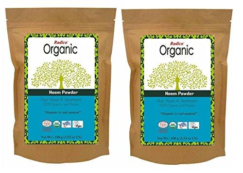 Radico Neem-bladpoeder 2-pack (2 x 100 g) Azadirachta Indica (bio, vegan) x2
