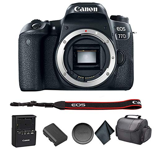 Canon EOS 77D DSLR Camera Bundle Kit with Carrying Case + More- International Model