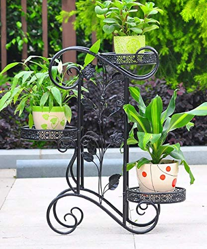 MGER Flower Stand,Plant Stand Bloemhouder Door 'Binnen 3 Lagen - Creatieve Vaas Strijkijzer Indoor Lounge Balkon Houder Bloemhouder Voor Externe