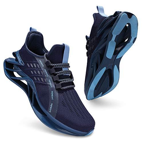 incarpo Sneaker Herren Turnschuhe Leicht Laufschuhe Atmungsaktive Sportschuhe Joggingschuhe Straßenlaufschuhe Blau,EU 42