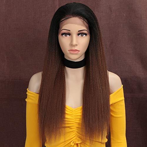 Style Icon perruques Lace Front Wigs Synthetique 60cm Longue et Droite 13x4 Dentelle Avec Raie Libre Perruque de Cheveux Raide Pour Femmes Fibres Rési