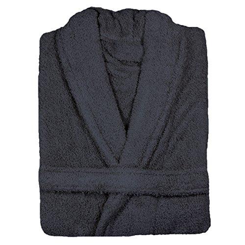 Linens Limited - Albornoz - 100% algodón Egipcio - Pizarra