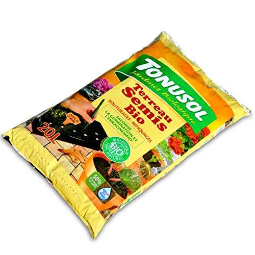 Tonusol Terreau fertilisé spécial semis et bouturages. UAB 20 litres