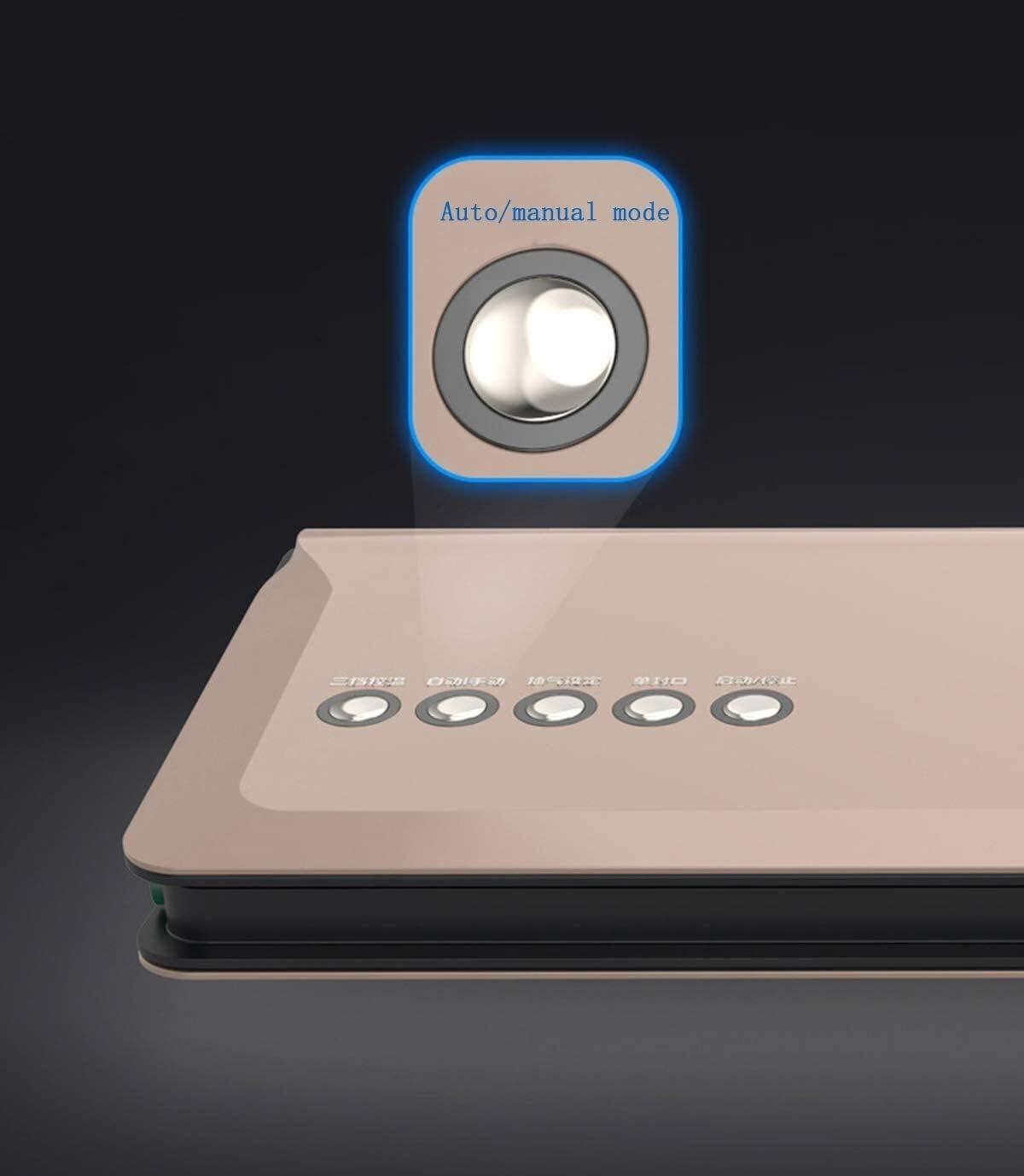 Passez l'aspirateur Scellant Machine professionnelle, vide Scellant machine, multi fonction vide Scellant - Preserve & Food Store ou Vac JIAJIAFUDR (Color : Gold) Pink