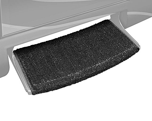 Prest-O-Fit 2-0205 Wraparound Radius RV Step Rug Black 22 In. Wide