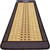 GemsMat - Grace- Far Infrared Jade and Tourmaline Bead Heat Stone Mat (70'L x 24'W) - FIR Therapy -FDA Registered Manufacturer - Adjustable Timer & Temperature - Infrared Heating Pad