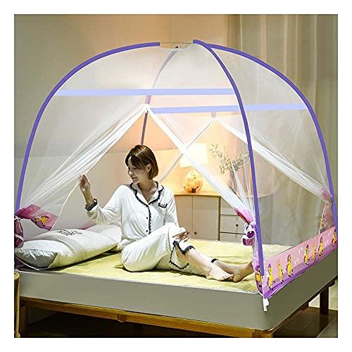Meet World Pop Up Moskitonetz, tragbares Zelt Reise DREI Tür Reißverschluss Bett Netz, einfache Installation und feines Netz, perfekt für Schlafzimmer im Freien ,5,120*20OCM