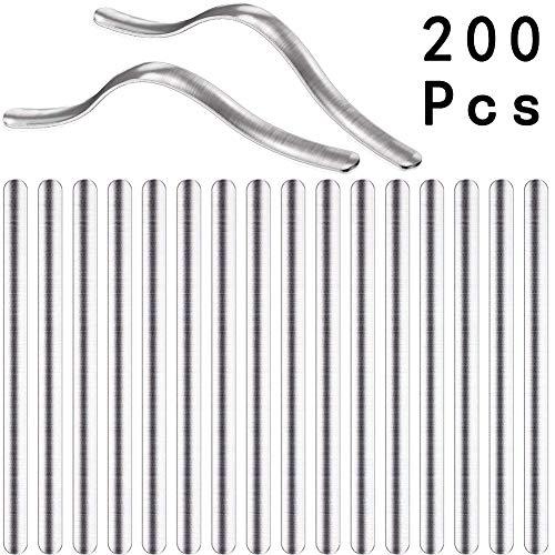 WENTS Metallbügel DIY Nasenbügel aus Aluminium 90x5mm Nasenbügel für Mundschutz ummantelter Draht für Mundschutz rostfrei & waschbar bis 60°C bei optimaler Verformbarkeit 200 Stück