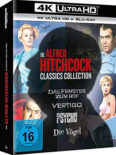 Alfred Hitchcock Collection - Das Fenster zum Hof + Vertigo + Psycho + Die Vögel [Blu-ray] (exklusiv bei Amazon.de)