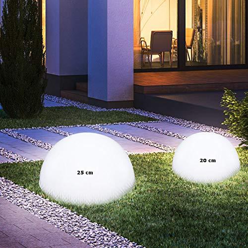 LED Solarleuchte Kugelform Außenleuchte Außenbereich Gartenleuchte Lampe Leuchte
