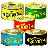 サヴァ缶 国産さばアソート (オリーブオイル、レモンバジル、パプリカチリソース、ブラックペッパー、アクアパッツァ) 5種×1缶 計5缶セット ギフト箱無