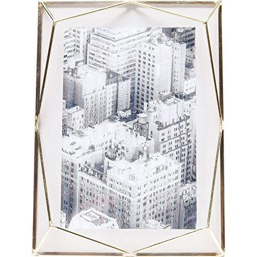 Kare Design Rahmen Art Pastel Beige, 10x15cm, schöner Bilderrahmen in beige mit messingfarbener Verkleidung
