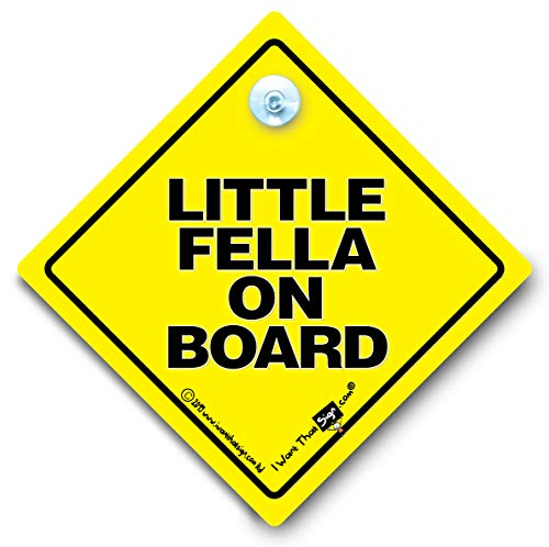 Little Fella à bord, Little Fella On Board, Little, Fella Baby On Board Panneau bébéà bord en forme de voiture, autocollant, Bébé Garçon À Bord Voiture, Motif voiture Inscription Grandson
