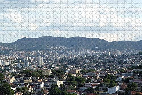 Belo Horizonte Brasil 1000 Pieza de Rompecabezas Juego de Puzzle de obras de Arte para Adultos,actividades para Adultos y Niños Juegos Educativos en la Decoración del Hogar de Puzzle de colores