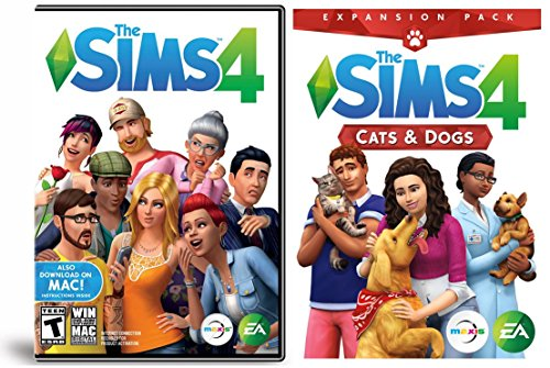 The Sims 4 Cats & Dogs Expansion Bundled With The Sims 4 PC Mac Base...