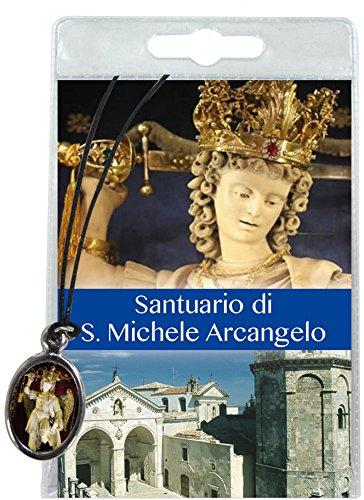 Medalla San Miguel Arcángel con cordón y oración en italiano