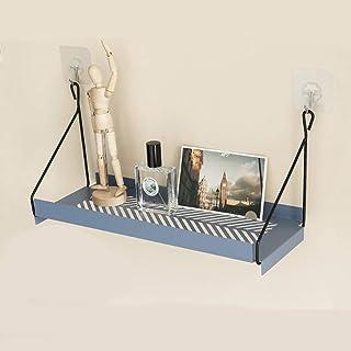 Los estantes flotantes Perchero de pared de hierro forjado, estante de pared, estante de almacenamiento de pared, porche m...