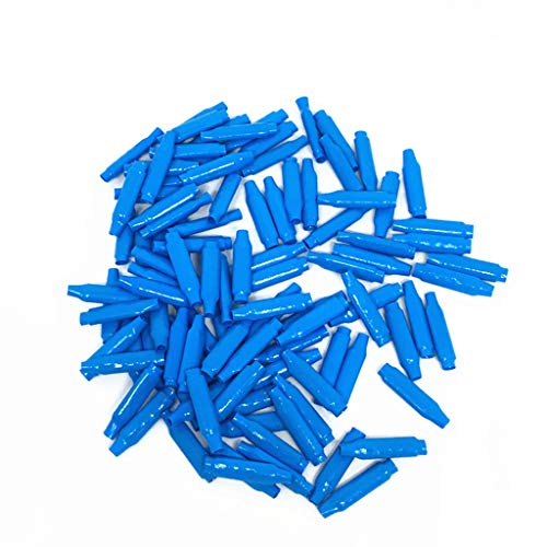 100PC Blue B Connectors Silicone Filled Wet B Wire Gel Telephone Alarm Wire Crimp Bean Type Splices for Low Voltage
