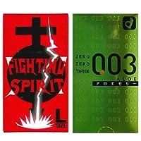 オカモト 003 アロエ 10個入 + FIGHTING SPIRIT (ファイティングスピリット) コンドーム Lサイズ 12個入