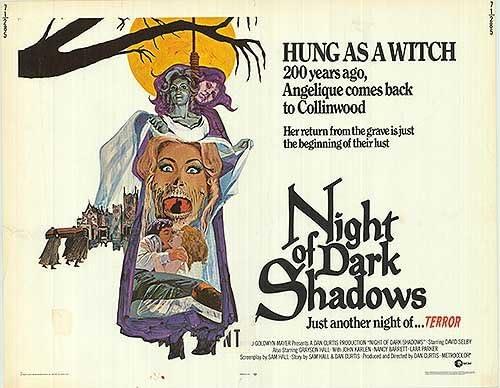 Night Of Dark Shadows - Authentic Movie Shee Original Free Shipping Cheap Bargain Gift Half Dedication 28x22