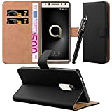 iCatchy For Alcatel 5 Case, Leather Wallet Flip Book Stand