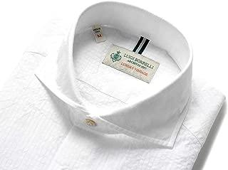 ルイジボレッリ ルイジボレリ LUIGI BORRELLI / 20SS!製品洗いコットンシアサッカーストライプホリゾンタルカラーシャツ「NA35(9013)」 (ホワイト) メンズ